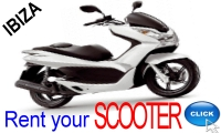 Rent your Scooter in Ibiza with Ibiza Rent a Car S.L.